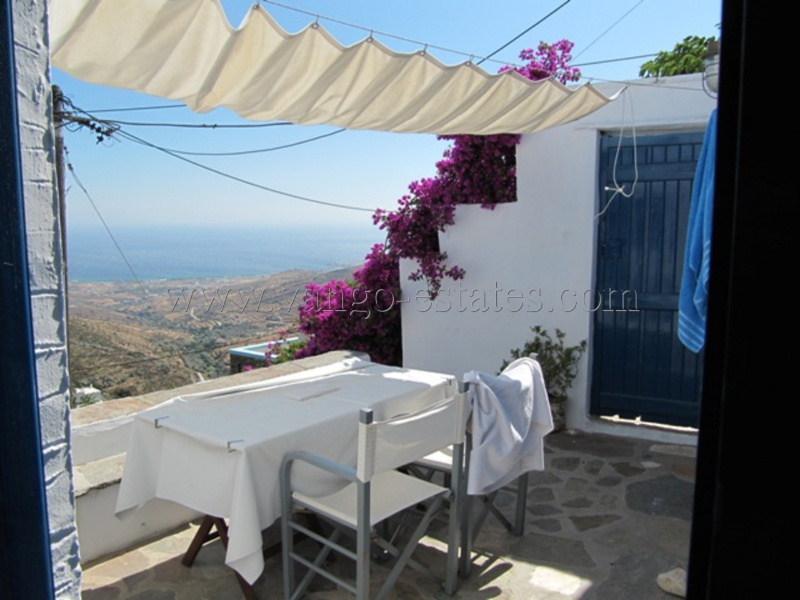 Tinos-Listed house panoramic view to the sea