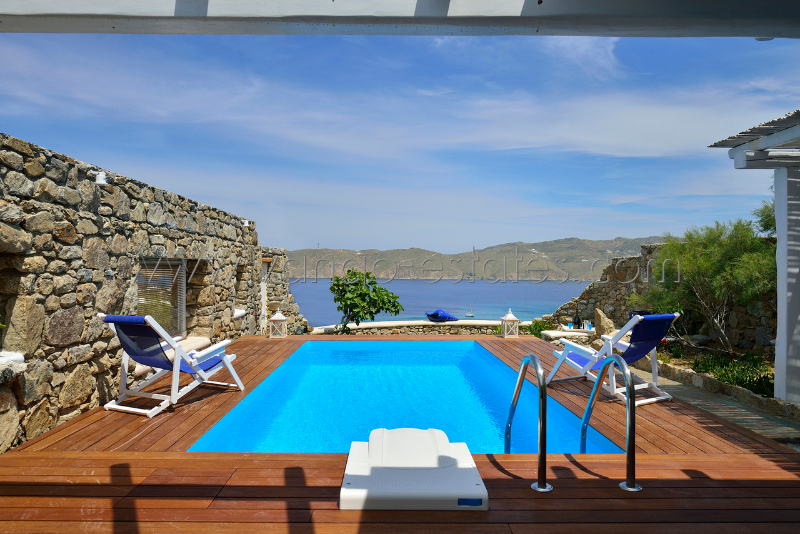 Mykonos - Panormos bay house with private pool