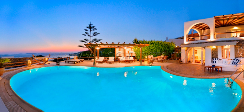 Delos view villa