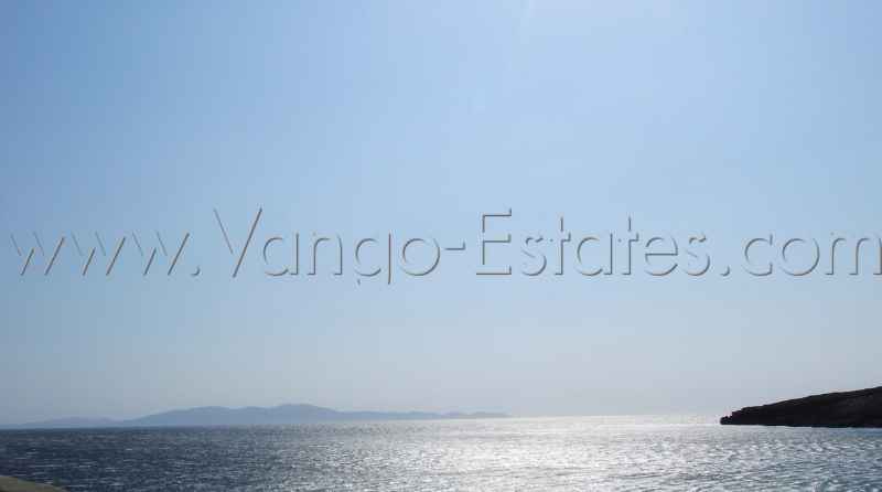 Large sea front field/plot of land for sale Tinos