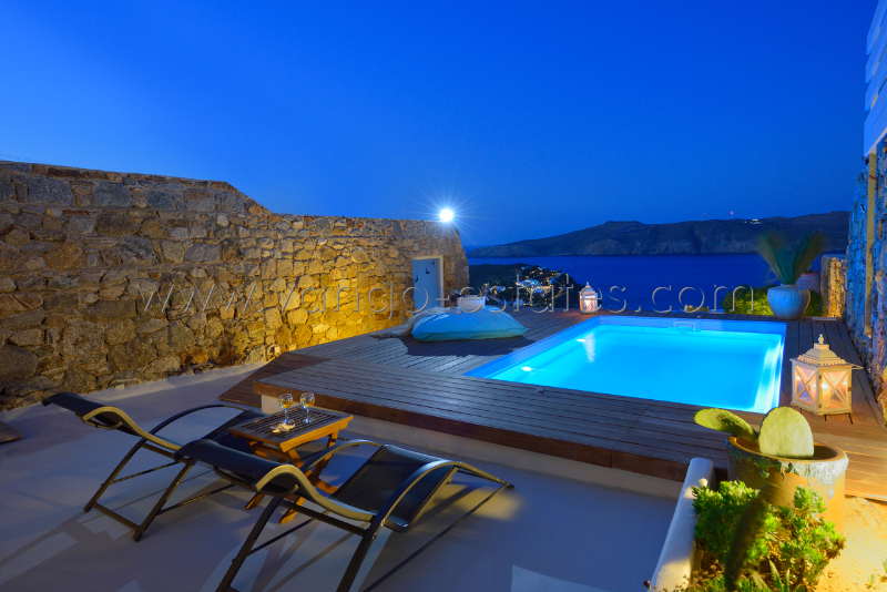 Mykonos - Panormos holiday villa, sea view