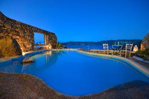 Maison de vacance  avec bassin d'eau privé à Panormos Mykonos / Location de vacance